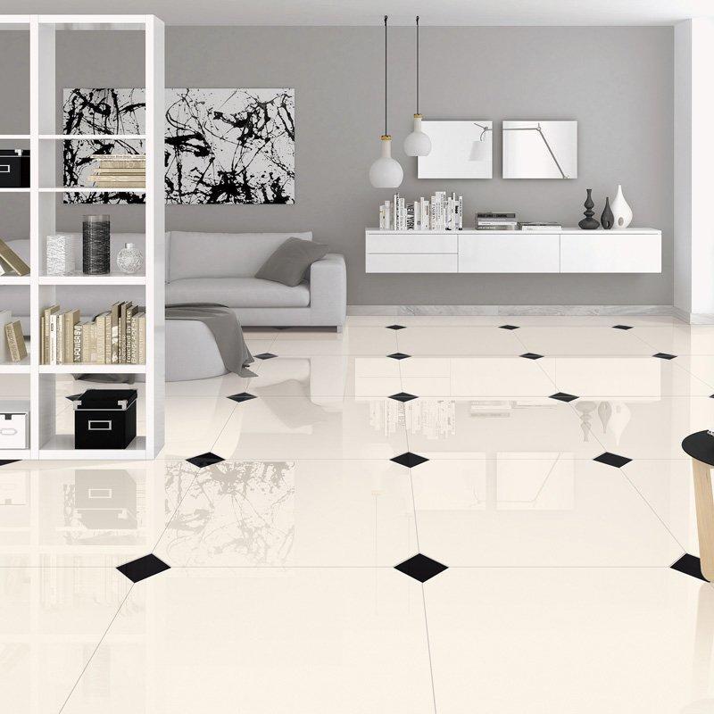 super white polished tile P10650