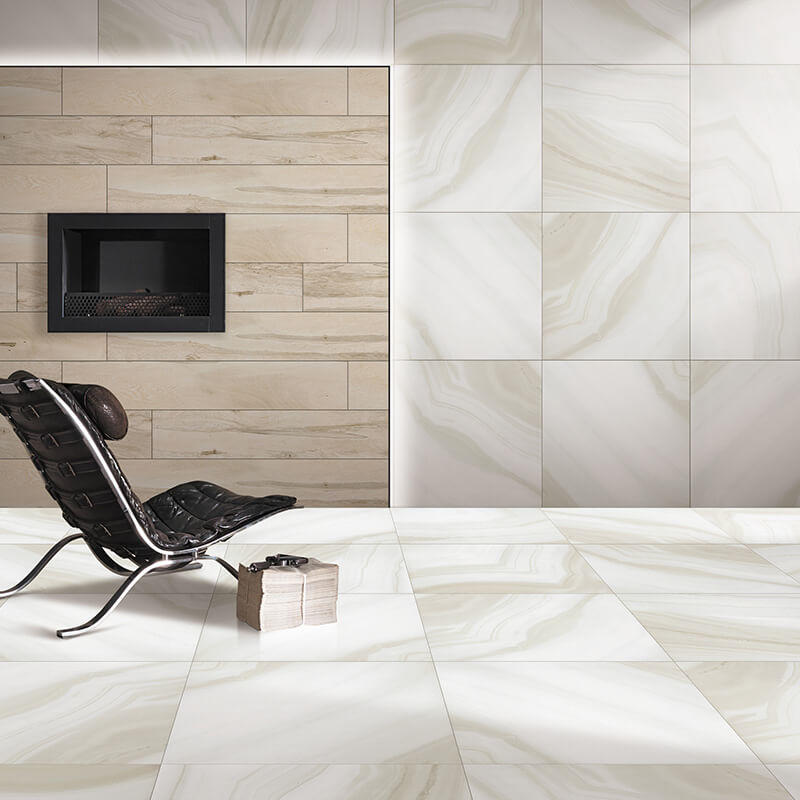 Agate beige porcelain wall / floor tile marble tiles flooring