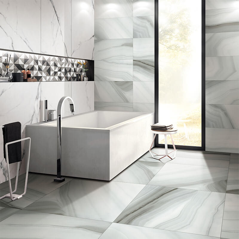 Marble tiles flooring  light grey agate porcelain tiles guangzhou