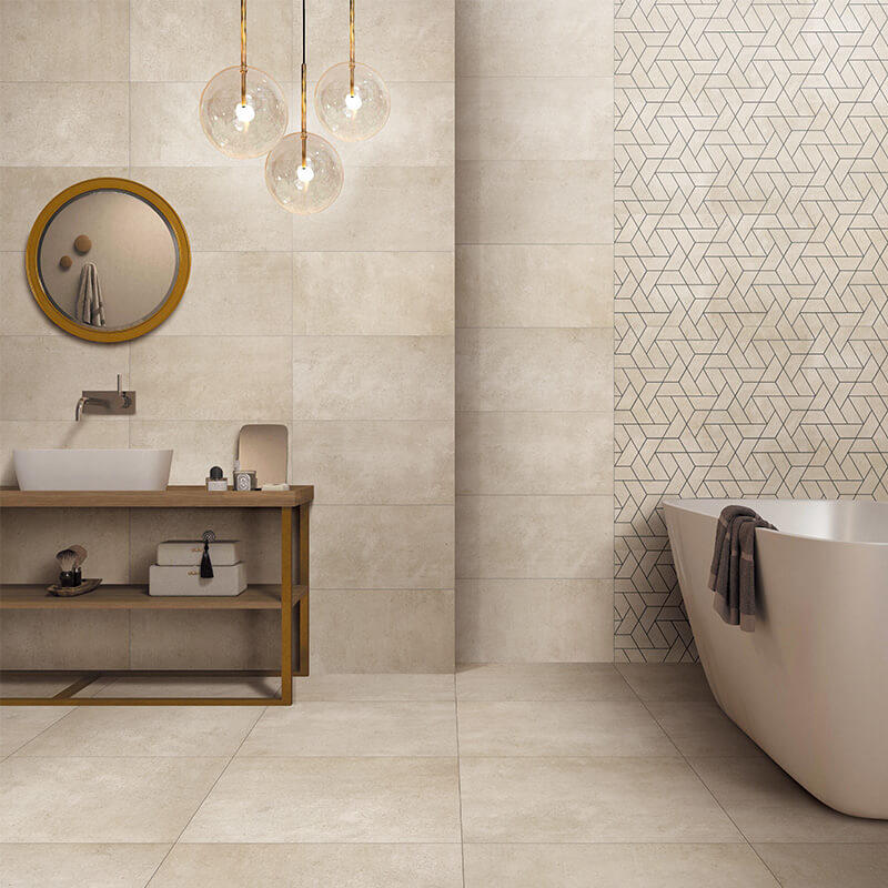 Cream beige dry particle morden tile 600x600mm non slip kitchen tile