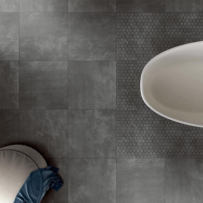 Top sale 3D inkjet black morden tile 600x600mm antibacterial kitchen tile
