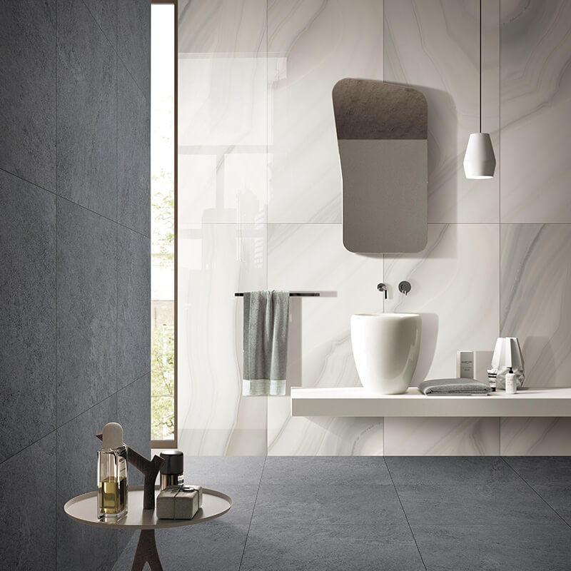 Light brown color marble stone cement mix modern tile, anti slip bathroom tile
