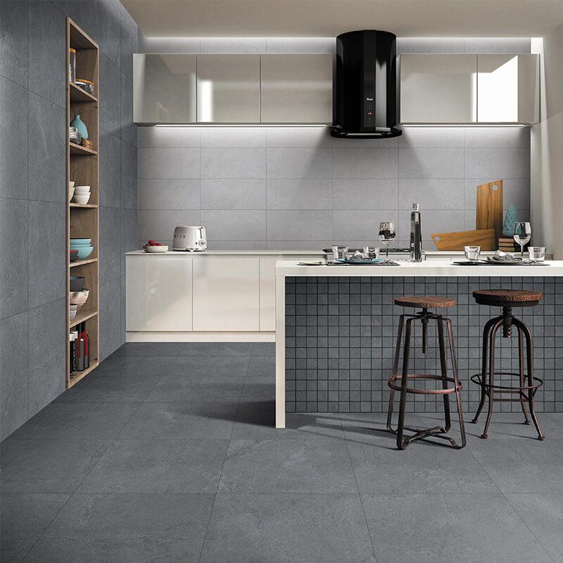 Grey color marble stone cement mix modern tile, anti slip bathroom tile
