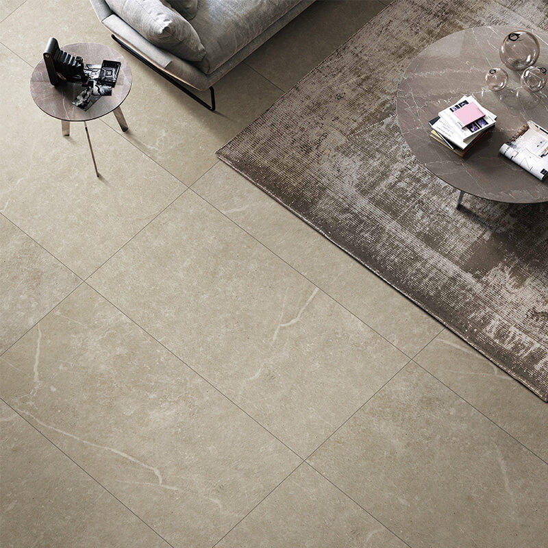 Grey exquisite cement mix stone morden tile dining room floor tile