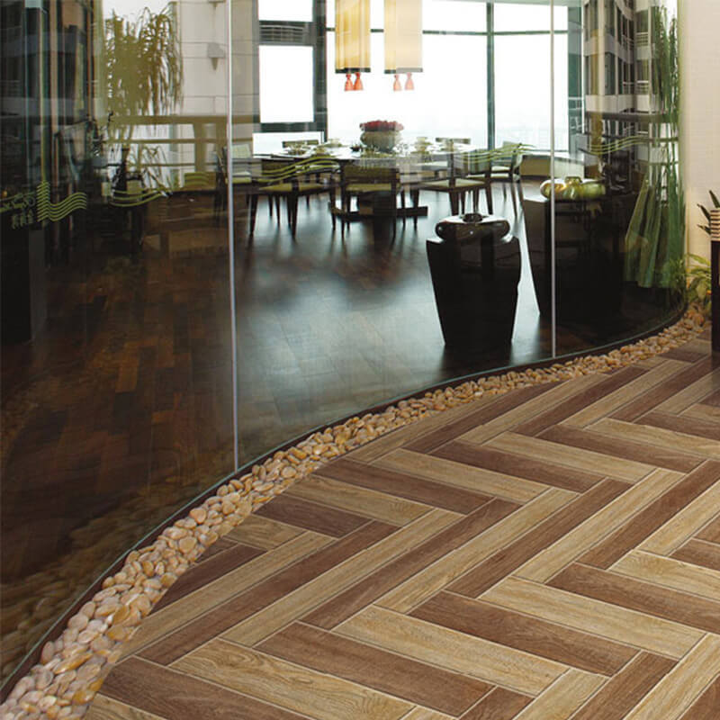 F320092F Morandi royal teak wood porcelain tile