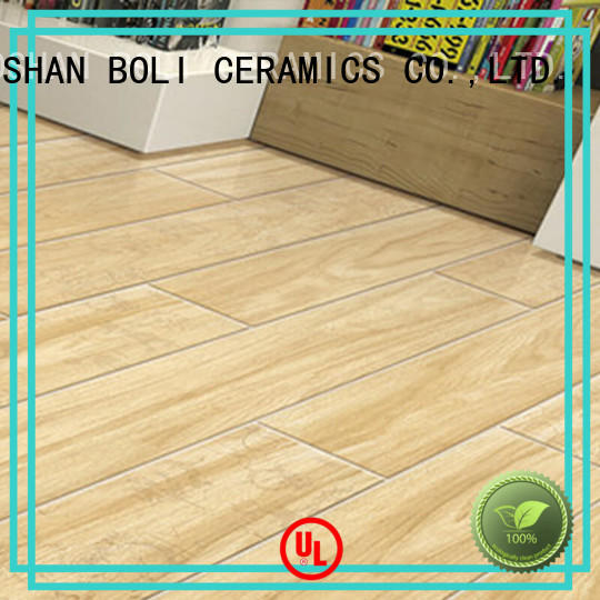 BOLI CERAMICS easy to clean flooring that looks like wood for relax zone