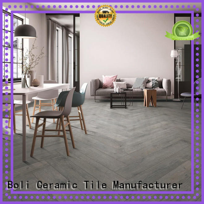 BOLI CERAMICS easy to clean wood grain tile from china for kitchen