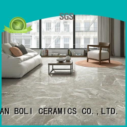 BOLI CERAMICS Brand wall look pocelain custom black marble tile