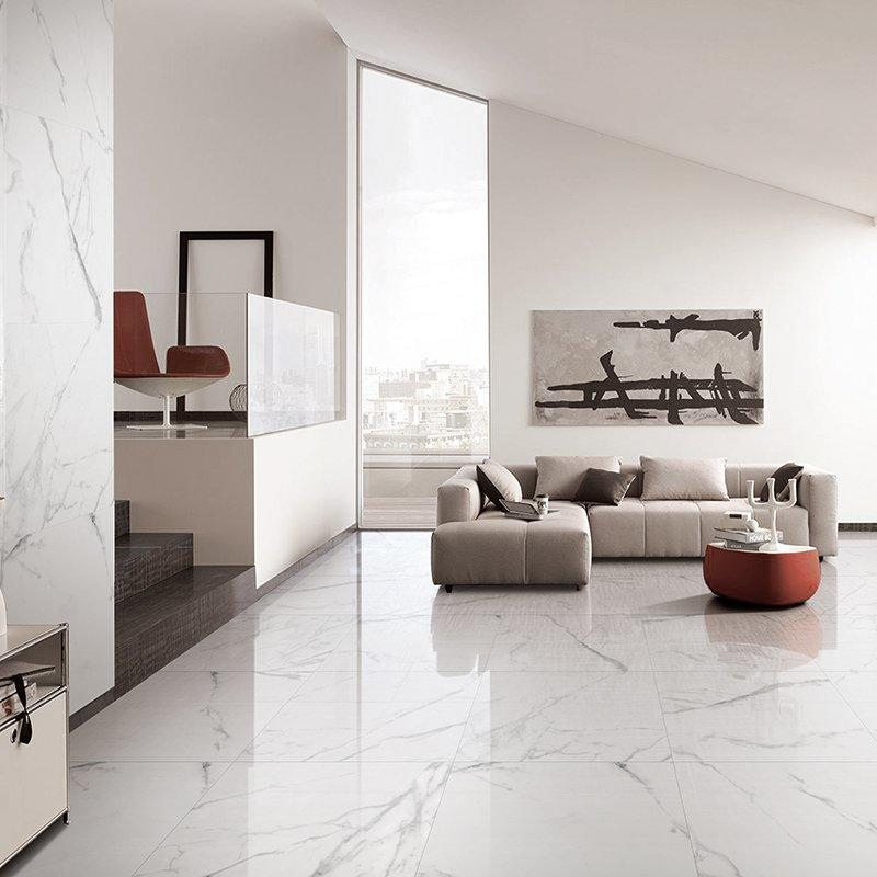 Carrara Marble Floor Tile super white polished 24x48 white marble tile  Carrara white FP8126A41