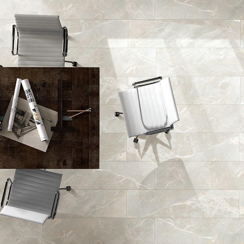 Copper donamita beige italy marble  floor tile polished full glazed porcelain tile 600x1200  Copper donamita beige  FP8126B15