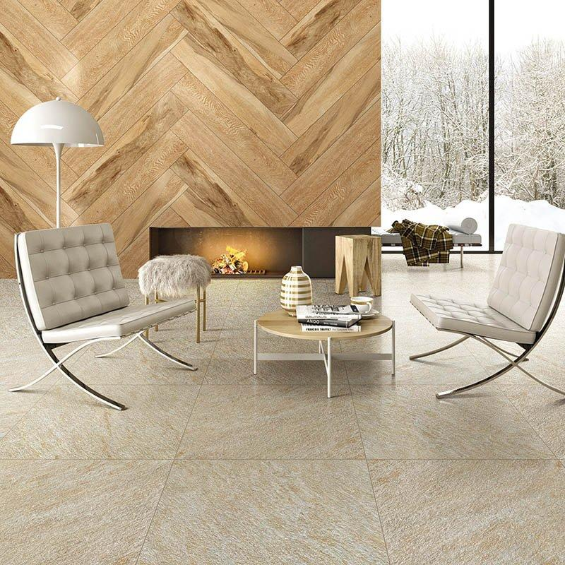 R11 cream beige color roughness sandstone tile for fireplace  Sand stone cream beige  F7622