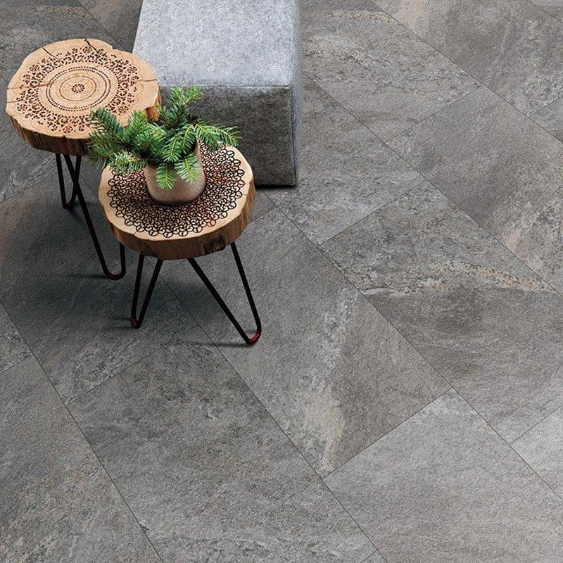R10  grey color body concave sandstone tile kitchen floor mat set  Nature stone ROCK STONE  F7782