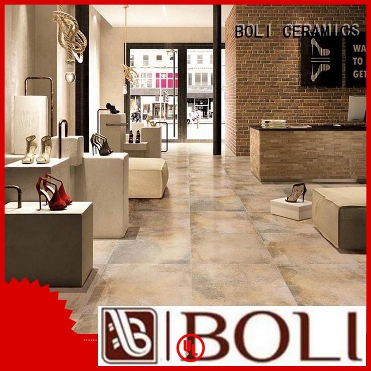 BOLI CERAMICS body concrete effect tiles free sample for garden
