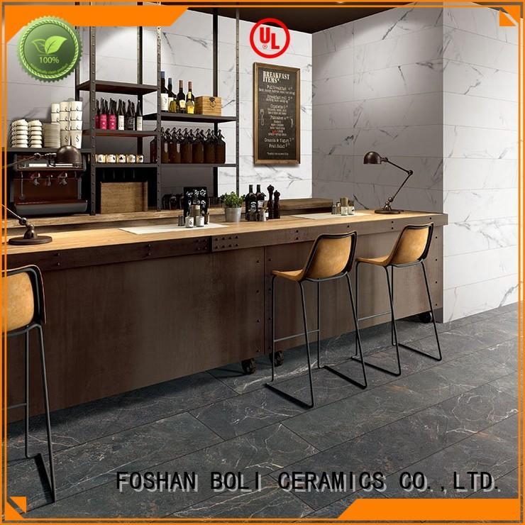 BOLI CERAMICS Brand glazed white grey marble floor tile