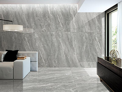 CFPLM15113B Marble Effect Big Size 1500*750mm Floor Tile Grey Color Polished Indoor Porcelain Tiles