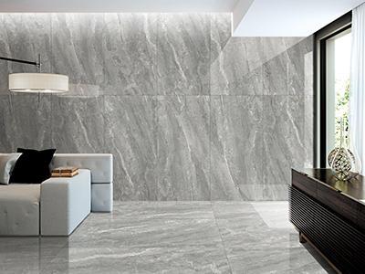 CFPLM15113B Marble Effect Big Size 1500*750mm Floor Tile Grey Color Polished Indoor Porcelain Tiles