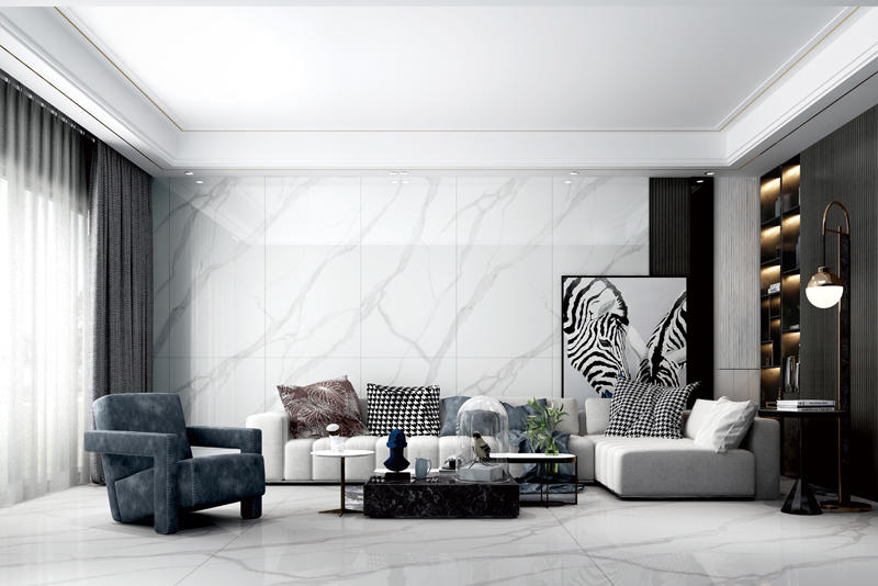 CFPBJ18205A  Modern Style 180*90cm Big Slab On sale White Color Bathroom Ceramic Tile In Stock