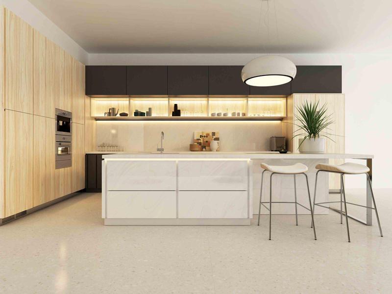 SH8008 Large Format White Marble Look Tile Slab Countertop Luxury Big Size Porcelain White Wall Floor Tile