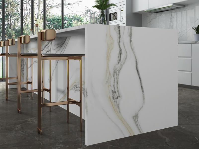 800*2600mm Marble Porcelain Floor Tiles Big Size Super White Tile