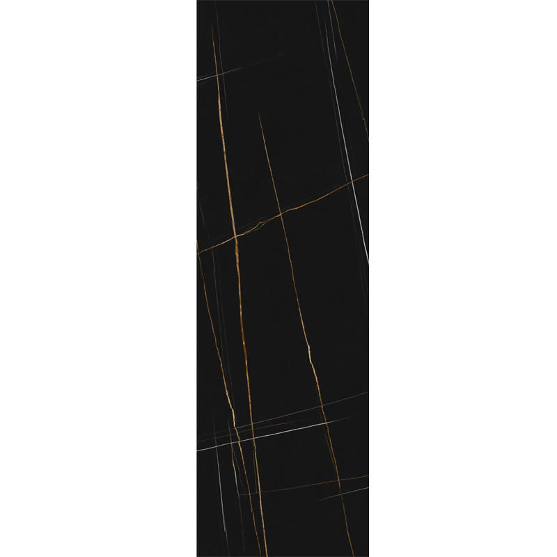 800*2600mm Luxury Big Size Panel Black Marble Tiles Glazed Porcelain Floor Tiles