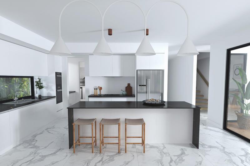 800*2600mm Luxury Big Size Panel Black Marble Tiles Glazed Porcelain Floor Tiles