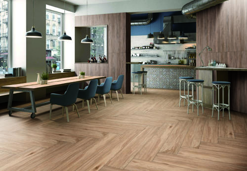 Royal teak floor tile F12213