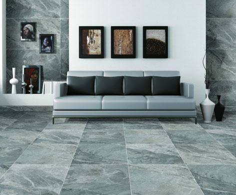 600 x 600mm Breccia Look Ceramic Marble Tile for Floor